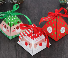 $enCountryForm.capitalKeyWord NZ - Merry Christmas Candy Gift Storage Box Bag with Tag Christmas Tree Gift Box Pyramid Paper Box Gift Bag Container Party &Wedding Supplies