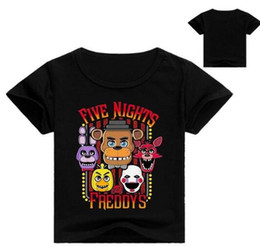 fashion for short girls NZ - 2018 New FNaF cartoon children's Clothes short Sleeve T-shirt For boys Five Night At Freddy girls Fashion baby tops t shirt tee