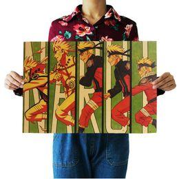 Chinese  Classic Japanese Cartoon Comic Kraft Paper Bar Poster Retro Poster Decorative Painting 51.5x36cm manufacturers