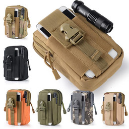 football purses wholesale Australia - 2017 Hot Camping Climbing Bag Outdoor Tactical Military Molle Hip Waist Belt Wallet Pouch Purse Phone Case for IPhone 7