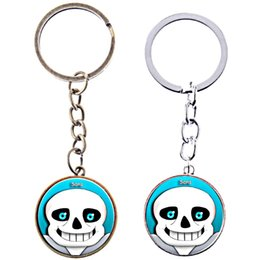 $enCountryForm.capitalKeyWord NZ - Trendy boy bronze Time Gem Cabochon game Undertale monster KeyChain game Undertale skeleton KeyChain Undertale skull Key Chain Ring 2018 151