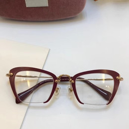 Wholesale eyeglasses frame women designer eyeglass frames designer glasses eyeglasses frame clear lens men glasses frame oculos 54QS and case