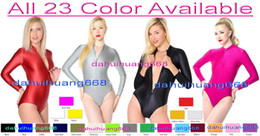 $enCountryForm.capitalKeyWord Australia - Sexy Front Zip Short Body Suit Costumes New 23 Color Lycra Spandex Short Suit Catsuit Costumes Unisex Sexy Bodysuit Cosplay Costumes DH043