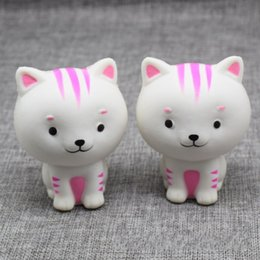 Sales Toys China Canada - 8.5CM Hot Sale Jumbo Squishy Pink White Cat Kawaii Squeeze Slow Rising Rebound For Key Ring Phone China Toys Gifts All Kinds Of Style