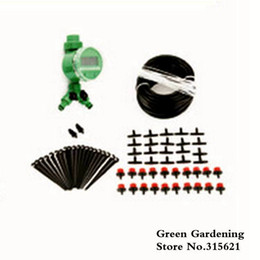 garden drip irrigation kits UK - Automatic Drip Irrigation System 20m 20 Drip Nozzles Garden Watering Kits Home Gardening Flower Pot Irrigation Kits