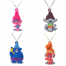 Trolls necklaces online shopping - Retail Trolls Figure Poppy High Quality Cartoon Soft PVC Pendant cm Necklace Rope Chain Choker Necklace Kids Gift Party Favors Jewelry