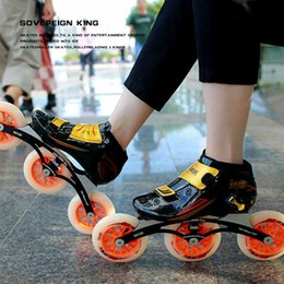 Chinese  Japy Speed Inline Skates Carbon Fiber 3*110mm 3*125mm Competition Skates 3 Wheels Racing Skating Patines Similar Powerslide manufacturers