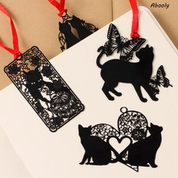 Cute korean bookmarks online shopping - 1Pcs set Cute Creative Kawaii Metal Book Markers Marque Page Cute Cat Bookmark For Books Paper Clip Korean Stationery