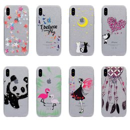 Iphone sIlIcone art cases online shopping - For iPhone X S Plus SE S Art Pattern Luxury Fashion Bling Sparkle Glitter Slim Flexible TPU Case For Samsung Galaxy Note S8 A520