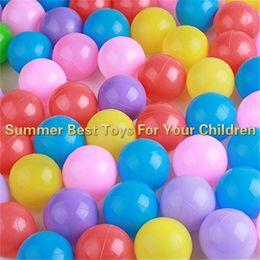 $enCountryForm.capitalKeyWord NZ - 100PCS Kid Secure Pit Toy Swim Soft Plastic Fun Colorful Ocean Balls 5.5cm With Storage Bag Summer Best Toys For Your Children