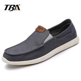 male summer wear 2020 - 2018 TBA Male Summer Peas Shoes Men Slip Wear Light Low-Upper Cloth Shoes Men's Canvas Solid Color With Male cheap