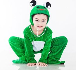 Wholesale girls zentai for sale – halloween New style the children Cosplay Green frogs Green yellow tortoise Suitable for boys and girls Stage costume Long style dancing clothes