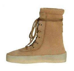 ec95dbd6 Botines para hombre Botas de crepé militares Chaussure Homme Zapatos de  cordones de ante de vaca Botas gruesas planas de Desert Black, Camel