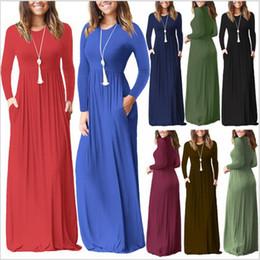 ee4899b99 Vestidos de las mujeres vestido maxi ocasional vestidos de cintura alta  sólidos Vestido de fiesta de noche Vestidos largos largos Vestido de moda  vestido de ...