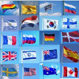 150cm x 90cm Flag Blue And White Striped 5ft x 3ft