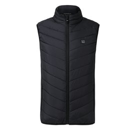 Electric Hot Warmer Australia - New Men Hiking Electric Heated Vest Heating Waistcoat Thermal Warm Clothing Feather Hot Sale Winter Jacket