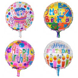 Chinese  Birthday Letter Party Decorations Balloon 18 Inch Aluminum Film Round Air Balloons Cartoon Printed Celebrate Repeated Eco Friendly 0 6lm jj manufacturers