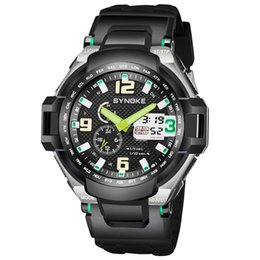 Men Digital Wrist Watches Australia - SYNOKE Men Fashion Sport Watch Top Brand Military LED Digital Analog Quartz Watch Waterproof G Style Outdoor Shock Wrist Watch 67606