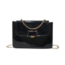 $enCountryForm.capitalKeyWord UK - Handbag Women Girl Fashion Patent Leather Flap Bag Cat Decoration Crossbody Shoulder Bag Drop Shipping 2018 #Zer