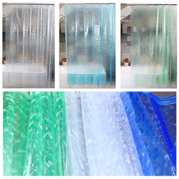 2018 shower waterproofing Fashion 3D Transparent Waterproof Bathroom Shower Curtain With Hooks Ring HOMBN0001 discount shower waterproofing