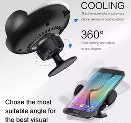 $enCountryForm.capitalKeyWord Australia - New Cell Phone Car Charging Holder Magnetic Universal Stand for iPhone 8 SamsungS8 360 Degree Bracket Micro USB Charge Fast Wireless Charger