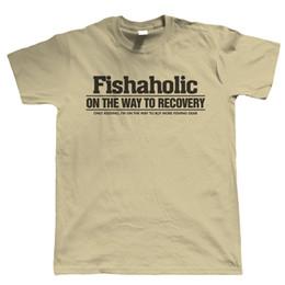 58afff4eb Fishaholic Mens Funny Fishing T Shirt, Angler Carp Sea Fly Gift for Dad  Granadad Funny free shipping Unisex Casual tshirt gift