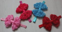 $enCountryForm.capitalKeyWord NZ - 50pcs 4.5 inch large chiffon rosettes flower bow headbands for baby girls hair accessories,toddler headband bow