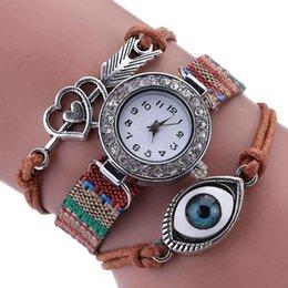 Xiniu Frauen Uhren Fashion Eye Wrap Kristall Kunstleder Kette Watch Around Armbanduhr # YW