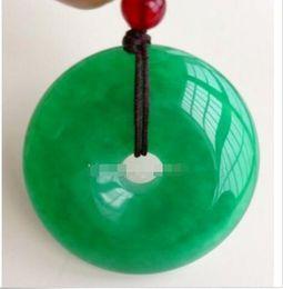 $enCountryForm.capitalKeyWord Australia - Chinese-Natural-Green-Jade-Hand-carved-Harmony-Lucky-Pendant-Rope-Necklace0772 Chinese-Natural-Green-Jade-Hand-carved-Harmony-Luck