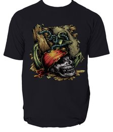 Black Shirt Loose Skull Australia - Mens Dead Pirate Skull T-Shirt Graphic Gents Tee SIZE S-3XL Cartoon t shirt men Unisex New Fashion tshirt Loose Size top ajax