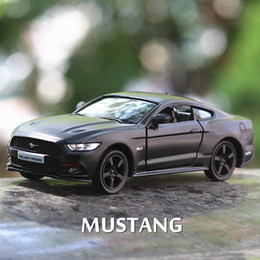 Cars ford gt online shopping - Ford mustang GT Scale Diecast Alloy Model Pull Back car Children gifts