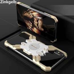 cute iphone bumper cases UK - For iPhone XS Max Cover Case Luxury Cute Hard Metal Aluminum Alloy Shockproof Armor Bumper Phone Case for iPhone XR Back Cover