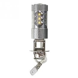 1pc High Power H3 LED Car Light 80W LED Super Bright White Fog Tail Turn DRL Head Car Light Daytime Running Lamp Bulb 12V on Sale