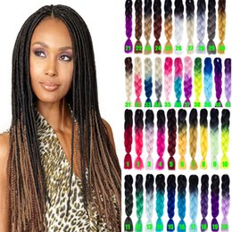expressions synthetic hair NZ - Ombre Xpressions Kanekalon Braiding Hair 24'' 100g Ombre Gray Synthetic Expression Braiding Hair Extensions Box Braids