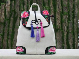$enCountryForm.capitalKeyWord Canada - Fashion Embroidery Shopping National backpack!Nice Bohemian Floral embroidered Small Women backracks Nice Lady String backruck