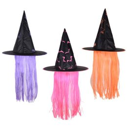 90f999499425b9 New Halloween Witch Hats Caps Adults Kids Wizard Hats Performance Party Hats  Cosplay Costume Props Dress Party Supplies