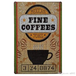 paris tin signs UK - Exquisite Coffee Theme Tin Sign 20*30cm Homemade Apple Pie Tin Poster Beer Paris Cafe Iron Painting Easy Carry Small cc