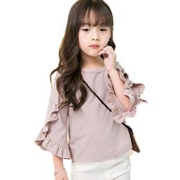 $enCountryForm.capitalKeyWord Australia - New Girls Shirt Long Sleeve Ruffes Kdis Girl Autumn Elegant Tee Shirt New Design Fashion Tops Clothes Children Outwear Outfits