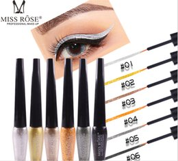 $enCountryForm.capitalKeyWord Australia - New Product Miss Rose Diamond highlighter eyeliner is a durable waterproof Glitter liquid eyeshadow fluid 6 color