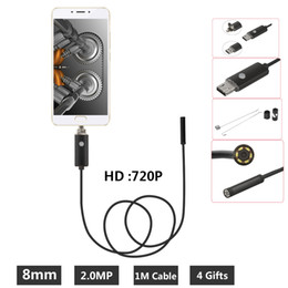 EndoscopE wirE camEra online shopping - 8mm Borescope MP USB Endoscope M Probe Waterproof Inspection Borescope LEDs USB Wire Snake Tube Camera OTG Compatible