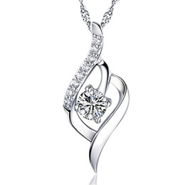 $enCountryForm.capitalKeyWord UK - S925 sterling silver necklace, beautiful pop style zircon pendant, love me give me heart
