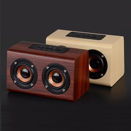 $enCountryForm.capitalKeyWord Australia - W7 Retro Wood Bluetooth Speaker Portable HiFi Dual Bass Loudspeakers Wooden speakers Support TF Card AUX for Phone