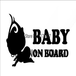$enCountryForm.capitalKeyWord Australia - HotMeiNi Wholesale 20pcs lot Baby on Board funny for Car Rear Windshield Truck SUV Bumper Auto Door Kayak sticker decal White in Car