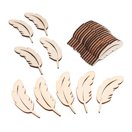 $enCountryForm.capitalKeyWord Australia - Unfinished Wooden Feather Shapes Ornaments Laser Cut Wood Feathers Cutout Gift Tags Art Crafts Ornaments Decoration