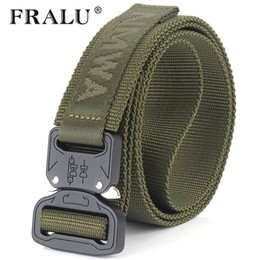 paintball equipment NZ - FRALU Camouflage Military Equipment Tactical Belt Men SWAT Combat Knock Off Army Belt Nylon Heavy Duty Paintball Waist Belt