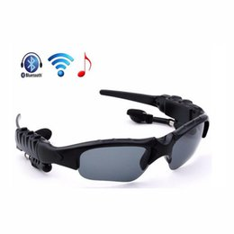 Iphone Stereo Player Australia - Sports Headset Wireless Bluetooth Sunglasses Headset Sunglass Stereo Handsfree Earphones Music Player for iPhone Samsung With Retail Packing