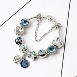 cat charms for pandora bracelets 2019 - 925 Silver Pandora Bracelets For Women Charm Crystal Beads Cat eye Bracelet Valentine's Day gift Jewelry Free shipp