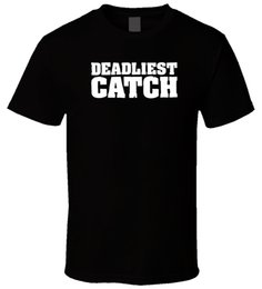 Wholesale Deadliest Catch Reality Tv Series Men T Shirt Tees Brand Clothing Funny T Shirt top tee Short Sleeve Summer Style Cartoon