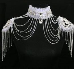 $enCountryForm.capitalKeyWord NZ - 2018 Latest Bridal Wedding Shoulder Chain Classic Hot Sales Shiny Rhinestones White Clear Bling Bling Luxury Wedding Jewelry