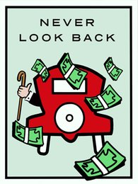 """Unframed Alec Monopoly """"Never Look Back"""",HD Canvas Print home decor wall art painting,office art culture"""